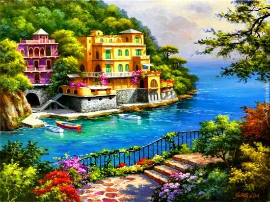 Картина по номерам 40x50 Нарисованный рай